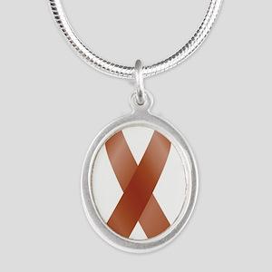 Burgundy Awareness Ribbon Necklaces