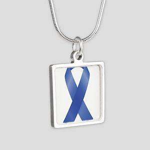 Blue Awareness Ribbon Necklaces