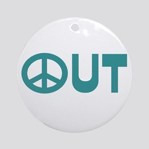 Peace Out Ornament (Round)