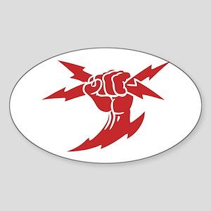 Lightning Fist Oval Sticker