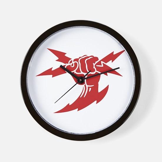 Lightning Fist Wall Clock