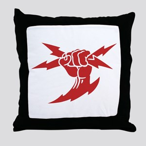 Lightning Fist Throw Pillow