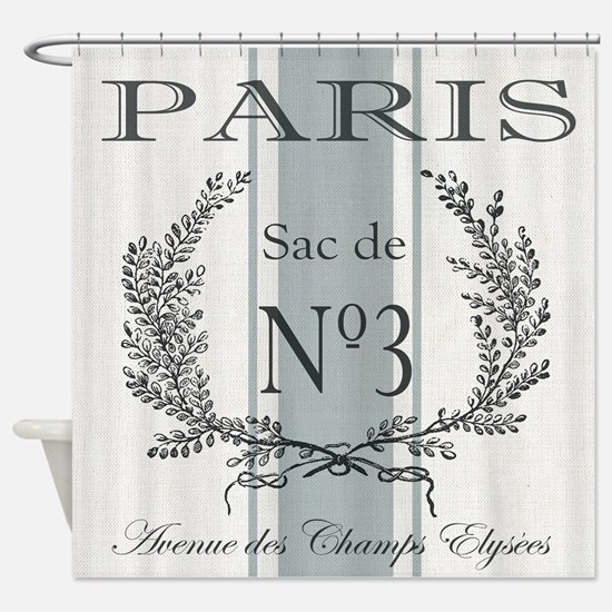Vintage French Paris grain sac Shower Curtain