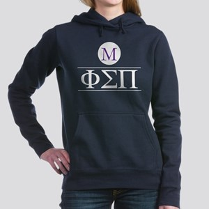 Phi Sigma Pi Letters Mon Women's Hooded Sweatshirt