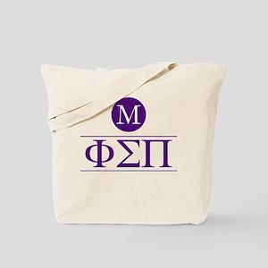 Phi Sigma Pi Letters Monogrammed Tote Bag