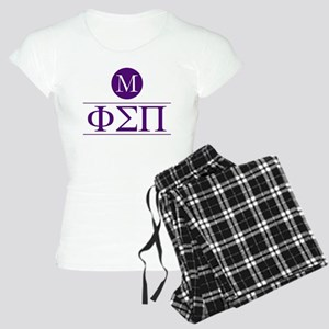 Phi Sigma Pi Letters Monogr Women's Light Pajamas