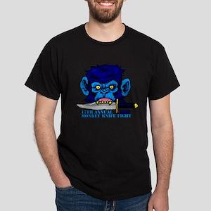 Monkey Knife Fight Dark T-Shirt