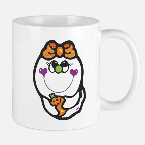 Baby Girl Ghost & Pumpkin Mug