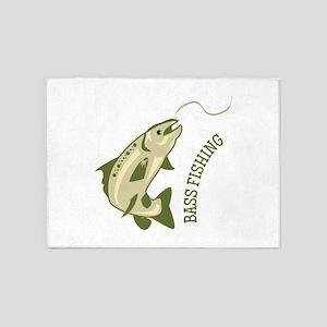 Bass Fishing 5'x7'Area Rug