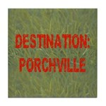 Destination: Porchville Tile Coaster