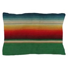 Vintage Green Mexican Serape Pillow Case