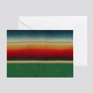 Vintage Green Mexican Serape Greeting Card