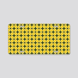 Yellow Freesia Petals Patte Aluminum License Plate