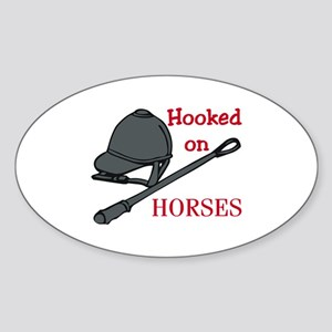 Hooked on Horses Sticker