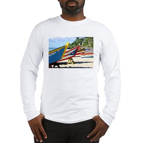Fishing Boats, Puerto Rico Long Sleeve T-Shirt