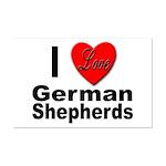 I Love German Shepherds Mini Poster Print