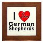 I Love German Shepherds Framed Tile