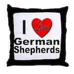 I Love German Shepherds Throw Pillow