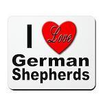 I Love German Shepherds Mousepad