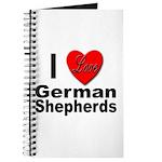 I Love German Shepherds Journal
