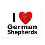 I Love German Shepherds Postcards (Package of 8)
