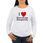 I Love German Shepherds Women's Long Sleeve T-Shir