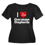 I Love German Shepherds (Front) Women's Plus Size