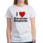 I Love German Shepherds (Front) Women's T-Shirt