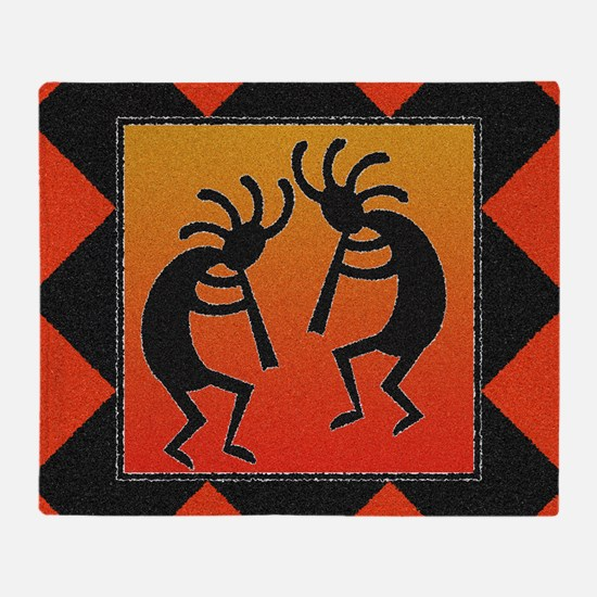 Funny Native american pattern Throw Blanket