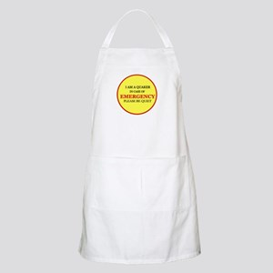 Quaker - In Case of Emergency Apron