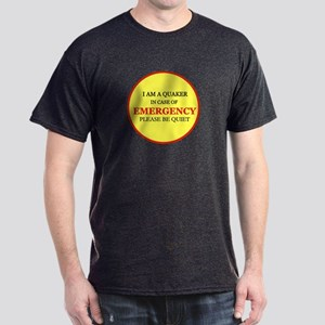 Quaker - In Case of Emergency Dark T-Shirt