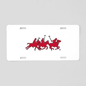 Polo Horses Aluminum License Plate