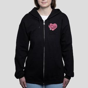 School Nurse Heart Sweatshirt