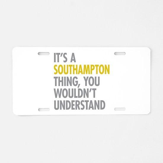 Southampton Aluminum License Plate