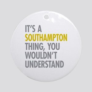 Southampton Ornament (Round)