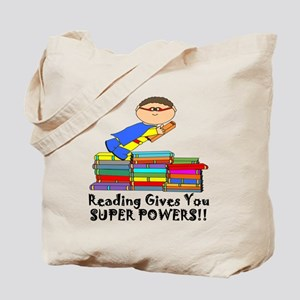Reading Gives you Super Powers! Tote Bag