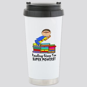 Reading Gives you Super Powers! Travel Mug