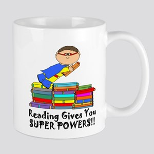 Reading Gives you Super Powers! Mugs
