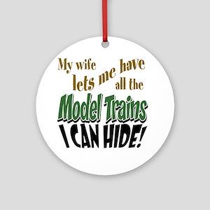 Model Railroads Round Ornament