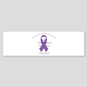 Awareness Ribbon with sarcastic phrase Bumper Stic