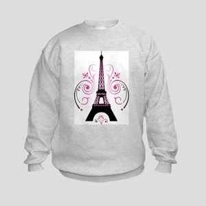 Eiffel Tower Gradient Swirl Sweatshirt