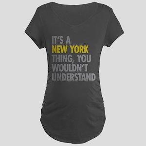 Its A New York Thing Maternity Dark T-Shirt