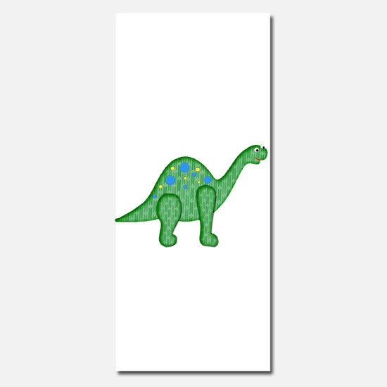 Green Quilted Dinosaur Invitations
