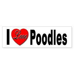 I Love Poodles Bumper Bumper Sticker