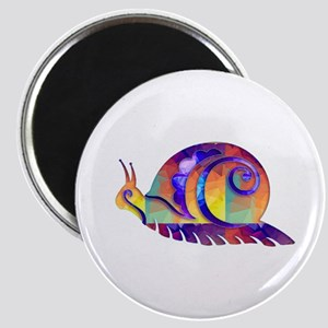 Polygon Mosaic Snail Multicolored Magnets