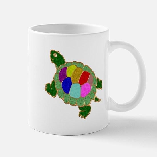 Jewelled Turtle Stained Glass Mug
