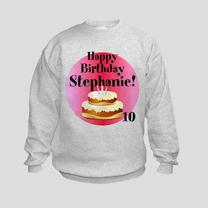 Personalized Name/Age Birthday Cake Pink Sweatshir
