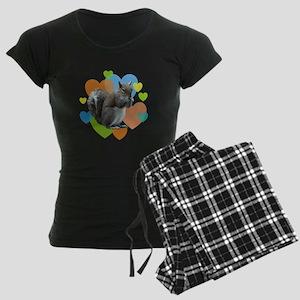 Squirrel Hearts Women's Dark Pajamas