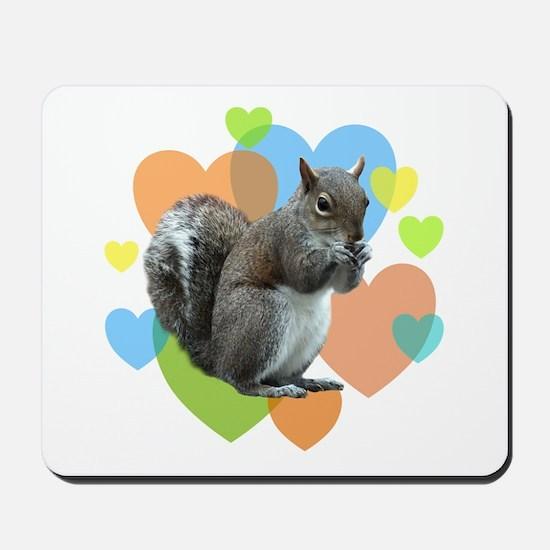 Squirrel Hearts Mousepad