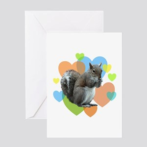 Squirrel Hearts Greeting Card